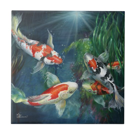 Tile - The Koi Pond by Kathy
