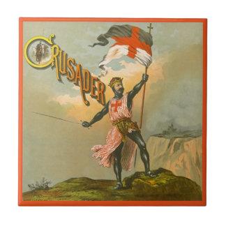Tile Vintage Advertising Crusader Brand Label Tile