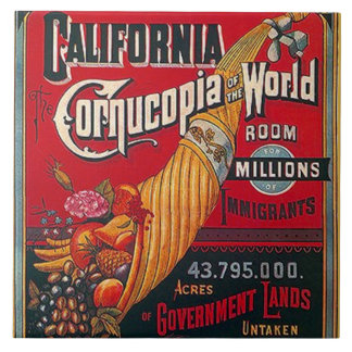 Tile Vintage California Immigrants & Opportunity