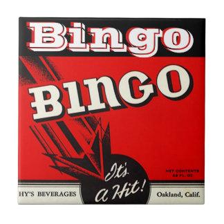 Tile Vintage Style Kitchen Bingo Beverage Label