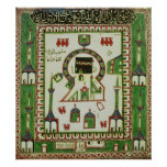 Tile with a representation of Mecca Poster