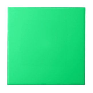 Tile with Bright Neon Green Background