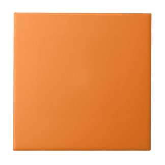Tile with Bright Orange Background