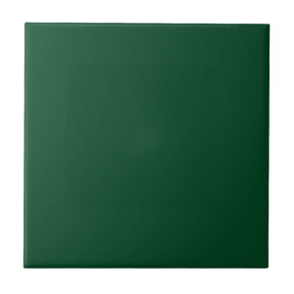Tile with Dark Evergreen Green Background