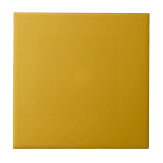 Tile with Golden Yellow Background