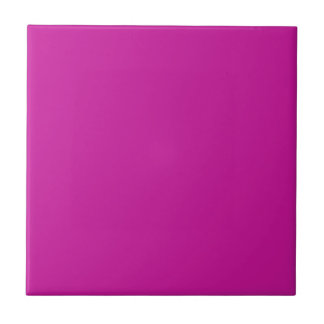 Tile with Hot Pink Background