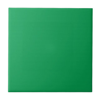 Tile with Medium Green Background