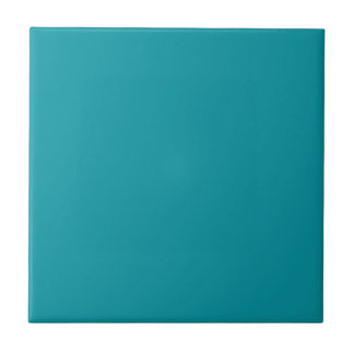 Tile with Medium Teal Green Background