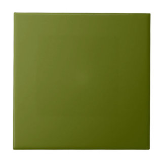 Tile with Olive Green Background