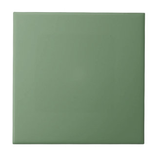 Tile with Pastel Sage Green Background