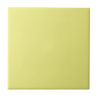 Tile with Pastel Yellow Background