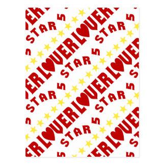Tiled 5 Star Lover Postcard