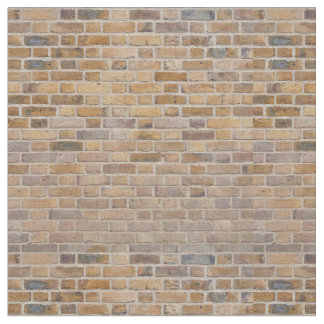 Tiled Brick Wall Urban Texture Pattern Fabric