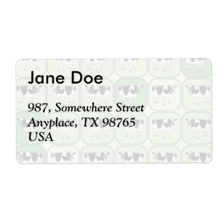 Tiled cows pattern shipping label