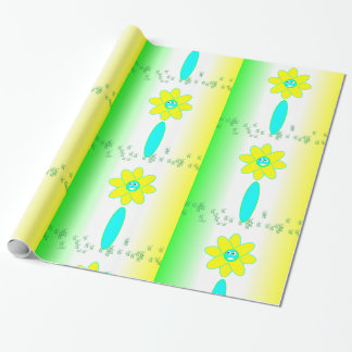 Tiled Daisy Flower Wrapping Paper