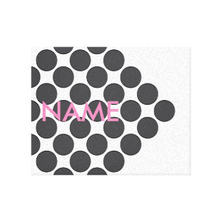 Tiled DarkGrey Dots Canvas Print
