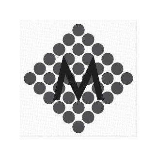 Tiled DarkGrey Dots Canvas Prints