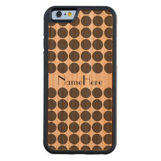 Tiled DarkGrey Dots Carved® Cherry iPhone 6 Bumper