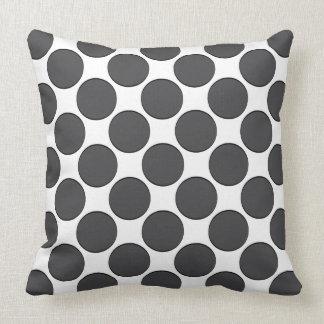 Tiled DarkGrey Dots Cushion