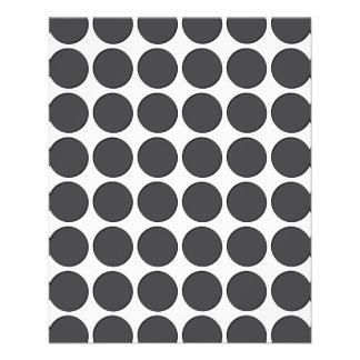 Tiled DarkGrey Dots Full Color Flyer