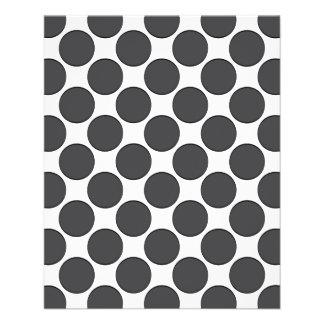 Tiled DarkGrey Dots Custom Flyer