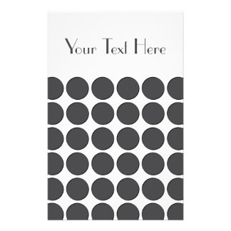 Tiled DarkGrey Dots Personalized Flyer