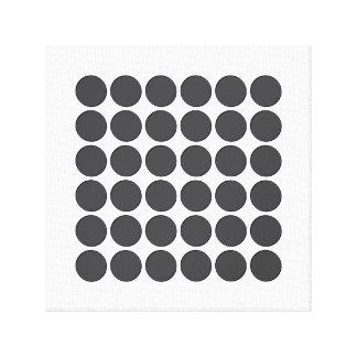 Tiled DarkGrey Dots Gallery Wrap Canvas
