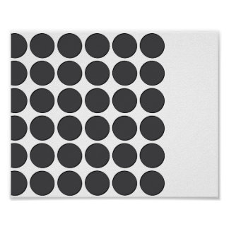 Tiled DarkGrey Dots Poster