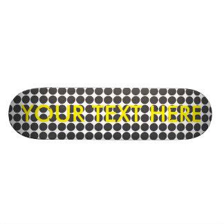 Tiled DarkGrey Dots Custom Skate Board