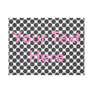 Tiled DarkGrey Dots Stretched Canvas Print