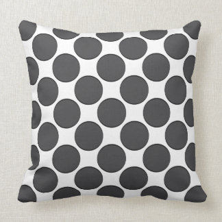 Tiled DarkGrey Dots Throw Pillow