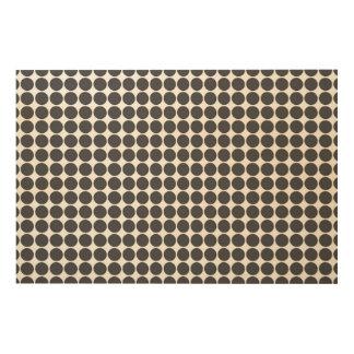 Tiled DarkGrey Dots Wood Canvas