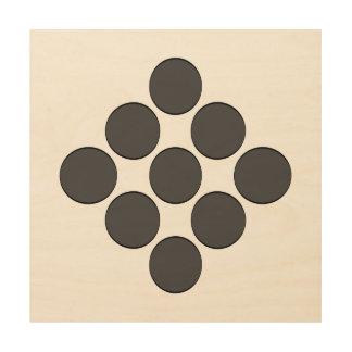 Tiled DarkGrey Dots Wood Canvases
