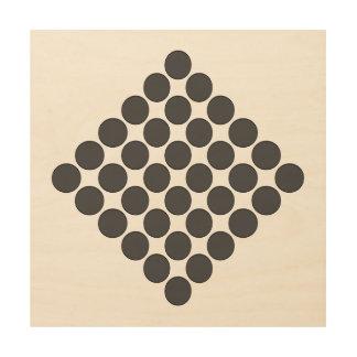 Tiled DarkGrey Dots Wood Print