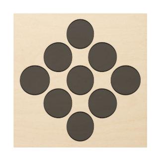Tiled DarkGrey Dots Wood Prints