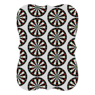 "Tiled Darts Target Pattern 5"" X 7"" Invitation Card"