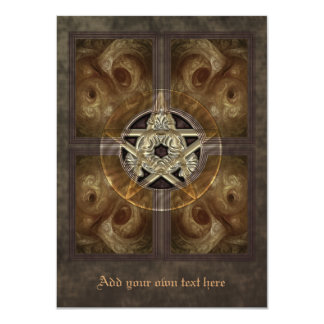 Tiled Fractal Pentacle Medium Invitation