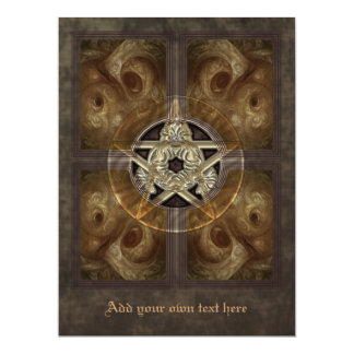 Tiled Fractal Pentacle Oversized Invitation