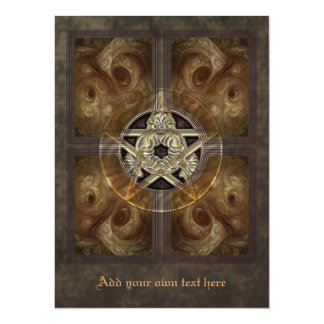 Tiled Fractal Pentacle X-Large Invitation
