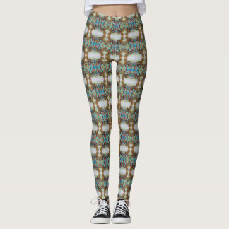 Tiled Geometric Design of Octopus, Octopii Leggings