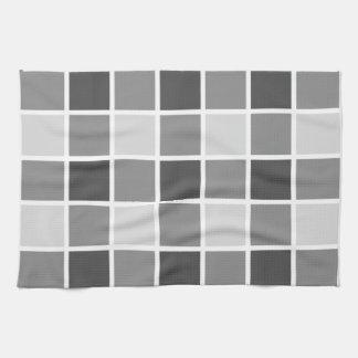 Tiled Grey Pattern Tea Towel