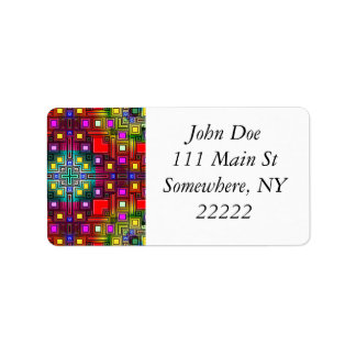 Tiled Modern Decorative Abstract Address Label