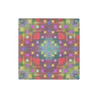 Tiled Modern Decorative Abstract Stone Magnet