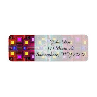 Tiled Modern Decorative Abstract Return Address Label
