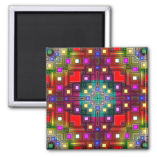 Tiled Modern Decorative Abstract Refrigerator Magnets