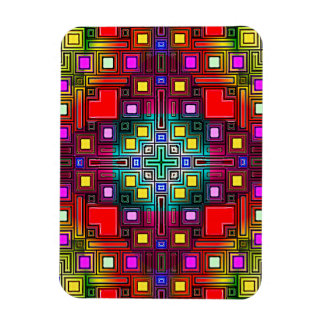Tiled Modern Decorative Abstract Rectangular Magnet