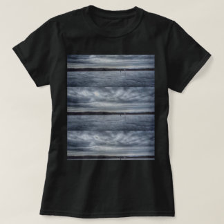 Tiled Moody Grey Sky Print Women's T-shirt