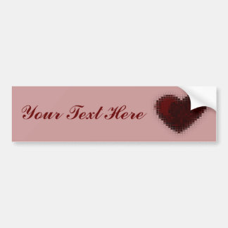 Tiled Mosaic Hearts (Deep Red) Bumper Sticker