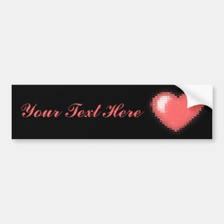 Tiled Mosaic Hearts (Pink) Bumper Sticker
