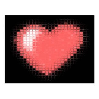 Tiled Mosaic Hearts (Pink) Postcard